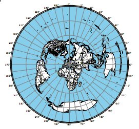 Azimuthal map centered JN97NL